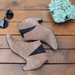 Sam Edelman   Suede Ankle Boots   Tan   8.5